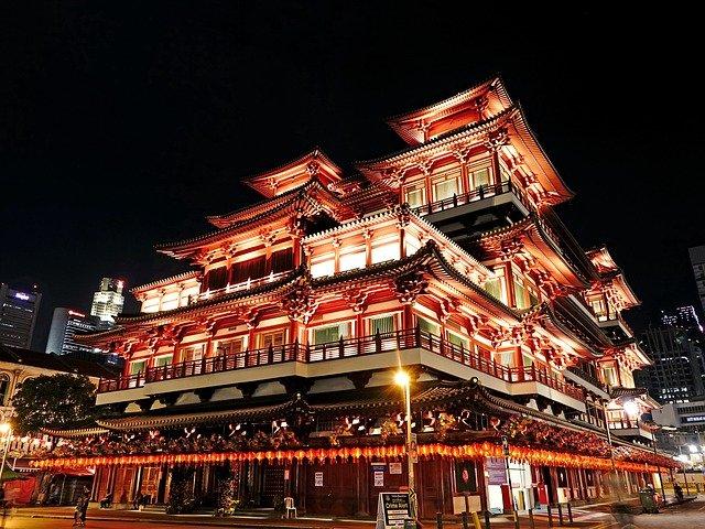 dům buddhy v Singapuru