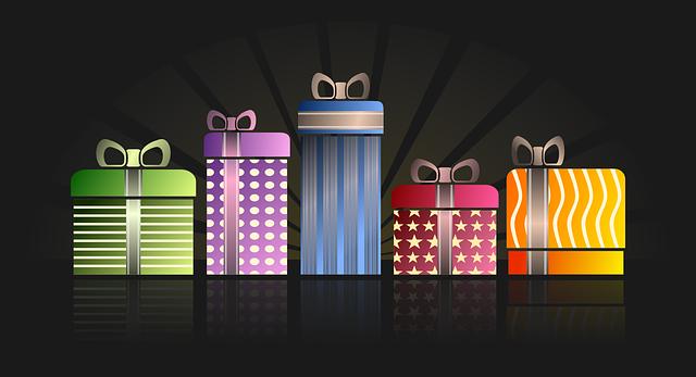 ilustrace dárků