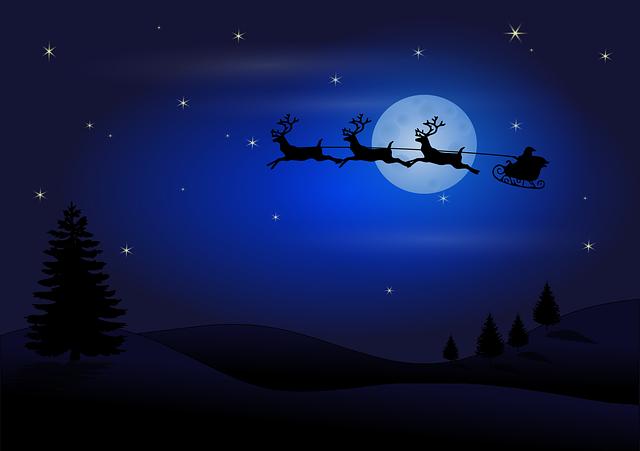Santa a měsíc