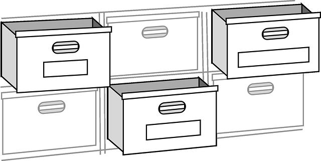 zásuvky do kartotéky